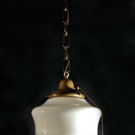 "アメリカン・アンティーク - 1930-40's ""Copper"" School House Ceiling Light"