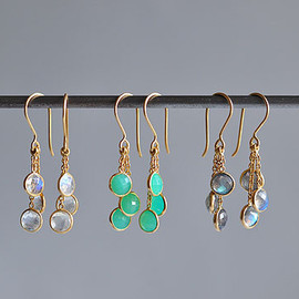 Tej Kothari - Hanging Triple Stones Earrings