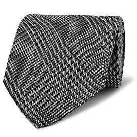 TOM FORD - 8.5cm Prince of Wales Checked Silk Tie