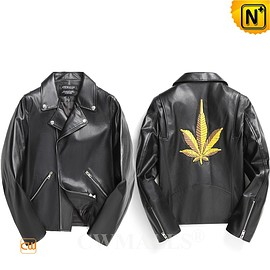 CWMALLS - Custom Embroidered Leather Moto Jacket CW809036 | CWMALLS.COM