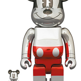 MEDICOM TOY - BE@RBRICK FUTURE MICKEY (2nd COLOR Ver.) 100% & 400%