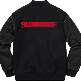 Supreme - Motion logo varsity jacket