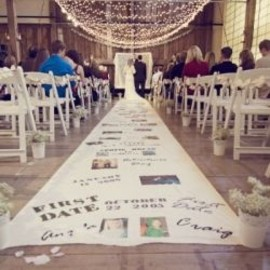 sharing their story down the aisle