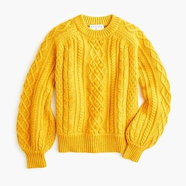 J.CREW - Demylee™ X J.Crew balloon-sleeve sweater