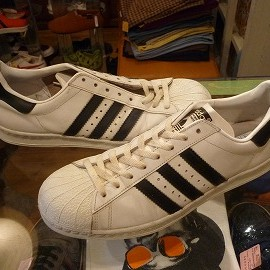 "adidas - 「<used>80's adidas SUPERSTAR white/black""made in FRANCE"" size:GB10(28.5cm) 30000yen」完売"