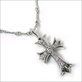 CHROME HEARTS - Tiny CH Cross Charm w/ Dia