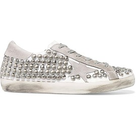 Golden Goose Deluxe Brand - Super Star studded distressed leather-paneled suede sneakers