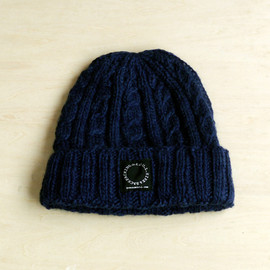 山と道 - YAK Wool Knit Cap (Navy)