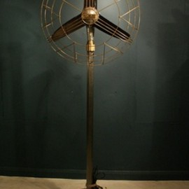 Alfies Antique Market London - Industrial floor standing fan
