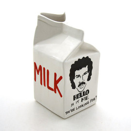 Lionel Richie ceramic milk carton - Hello is it Me Lionel Richie ceramic milk carton by LennyMud