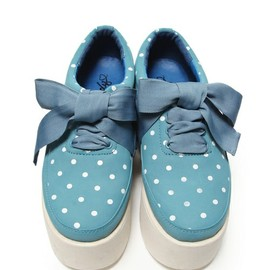 Candy stripper - CANDY DOT RIBBON HIGH SOLE SHOES