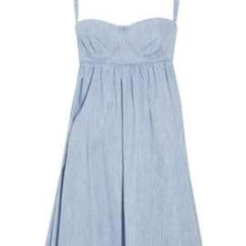 SEE BY CHLOE - Denim bustier babydoll dress