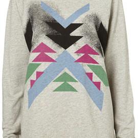 TOPSHOP/TOPMAN - Aztec Rainbow Speckle Sweat