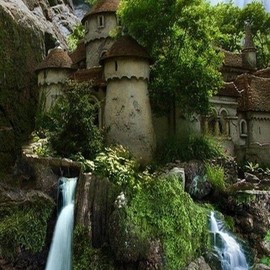 poland - waterfall castle