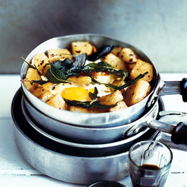 donna hay - crispy sage potatoes with fried eggs