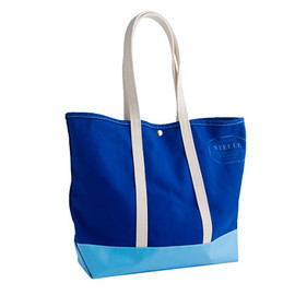 J.CREW - Steele Canvas Basket Co.™ for J.Crew colorblock coal bag