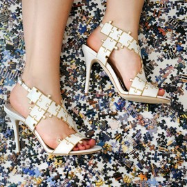 BRIAN ATWOOD - Brian Atwood Sommer Leather Puzzle Sandals