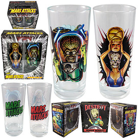 Kreepsville 666 - Mars Attacks Glass Set