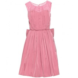 Nina Ricci - TAFFETA DRESS WITH LACE AND BOW DETAIL