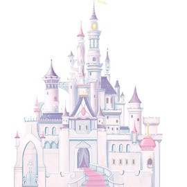 RoomMates - RMK1546GM Disney Princess Glitter Castle Peel & Stick Giant Wall Decal