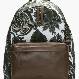 GIVENCHY - Givenchy Olive Green Leather Trimmed Paisley Print Backpack in Green for Men (olive) - Lyst