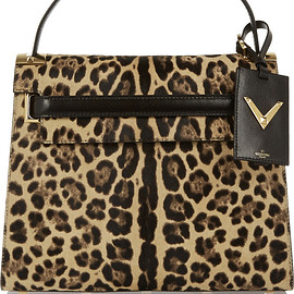 VALENTINO - My Rockstud leopard-print calf hair and suede tote