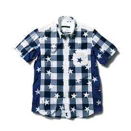 SOPHNET. - S/S STAR MIX B.D SHIRT