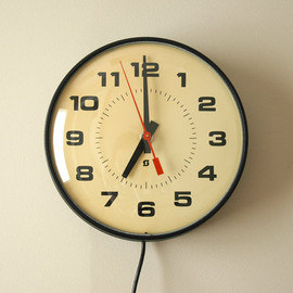 Simplex - Vintage Industrial School Wall Clock Electric