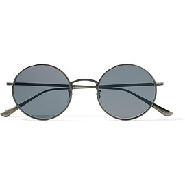Oliver Peoples - + The Row After Midnight round-frame metal sunglasses