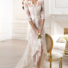 pronovias 2014 atelier bridal collection yaela lace wedding dress