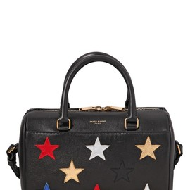 SAINT LAURENT - SS2015 BABY DUFFLE STARS ON LEATHER BAG