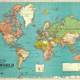 Goose - World Map Wrap Sheet
