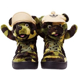 adidas - ADIDAS ORIGINALS BY JEREMY SCOTT CAMOBEAR EARTH GREEN/BLACK/SHIFT OLIVE