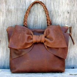 Leather Bow Handbag♡