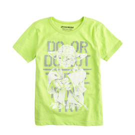 J.CREW - STAR WARS FOR CREWCUTS TEE IN GLOW-IN-THE-DARK YODA