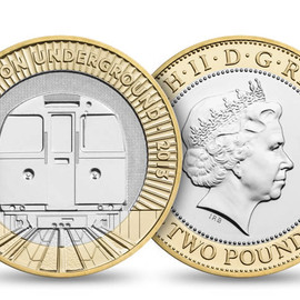 Barber Osgerby - £2 coin  for 150th anniversary of London Underground