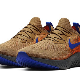 NIKE - Epic React Flyknit - Golden Beige/Racer Blue/Tonal Orange