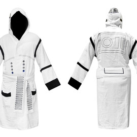 STAR WARS - Storm Trooper Hooded Terry Bath Robe