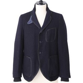 sacai - Navy Tweed Jacket
