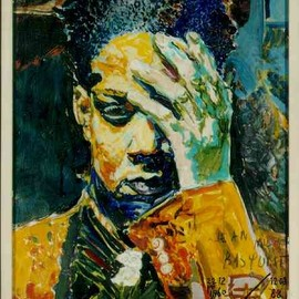 "Jean-Michel Basquiat - ""portrait of a black woman"""