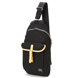 "HEAD PORTER - ""LX"" ONE SHOULDER BLACK"