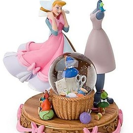 "Disney Exclusive ""A Dress for Cinderelly"" Princess Cinderella Snowglobe"