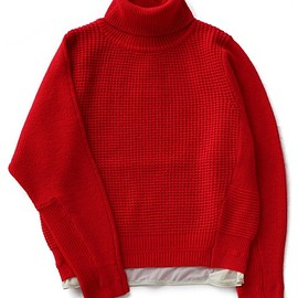 PONTI - Cashmere Wool Knit Turtleneck (rouge)