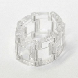 ANN-SOFIE BACK - Link Ring Clear Plastic