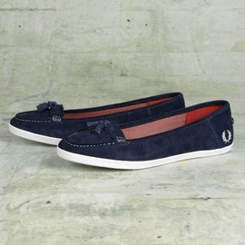 Fred Perry - Betty Suede Penny Loafer (Carbon Blue/Ivory)