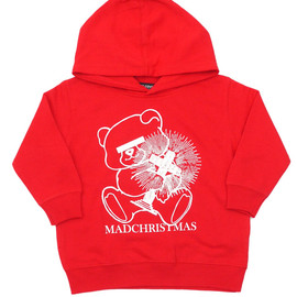 "UNDERCOVER - UNDERCOVER(アンダーカバー)""TOKYOSKYTREETOWNSOLAMACHI""EXCLUSIVEBEARMADCHRISTMASHOODIE RED"