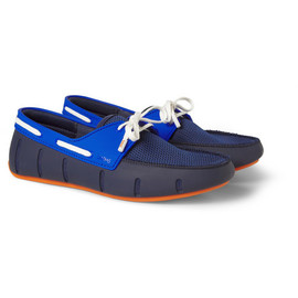 SWIMS - SWIMSColour-Block Rubber And Mesh Boat Shoes