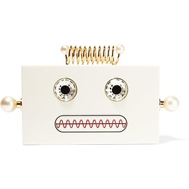 Charlotte Olympia - Roby embellished Perspex clutch