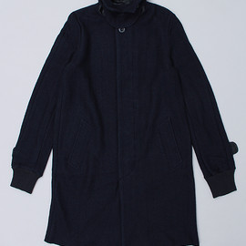 sacai - WOOL SOUTIEN COLLAR COAT