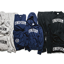 uniform experiment - ARCH LOGO PULL OVER SWEAT & PANT